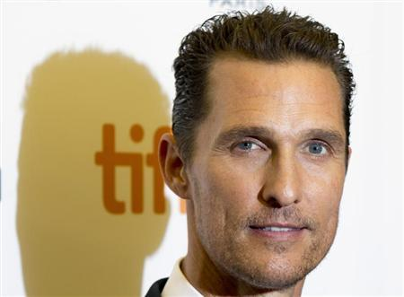 """Matthew McConaughey arrives for the screening of """"Dallas Buyers Club"""" at the 38th Toronto International Film Festival in Toronto"""