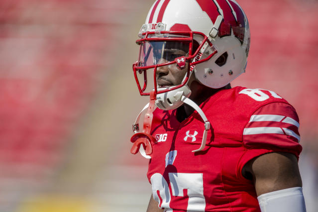 Former Badgers WR Quintez Cephus is still fighting to be reinstated at Wisconsin. (Dan Sanger/Getty Images)