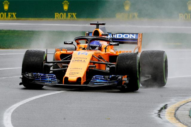 Formula One F1 - Australian Grand Prix - Melbourne Grand Prix Circuit, Melbourne, Australia - March 24, 2018 McLaren's Fernando Alonso in action during practice REUTERS/Brandon Malone