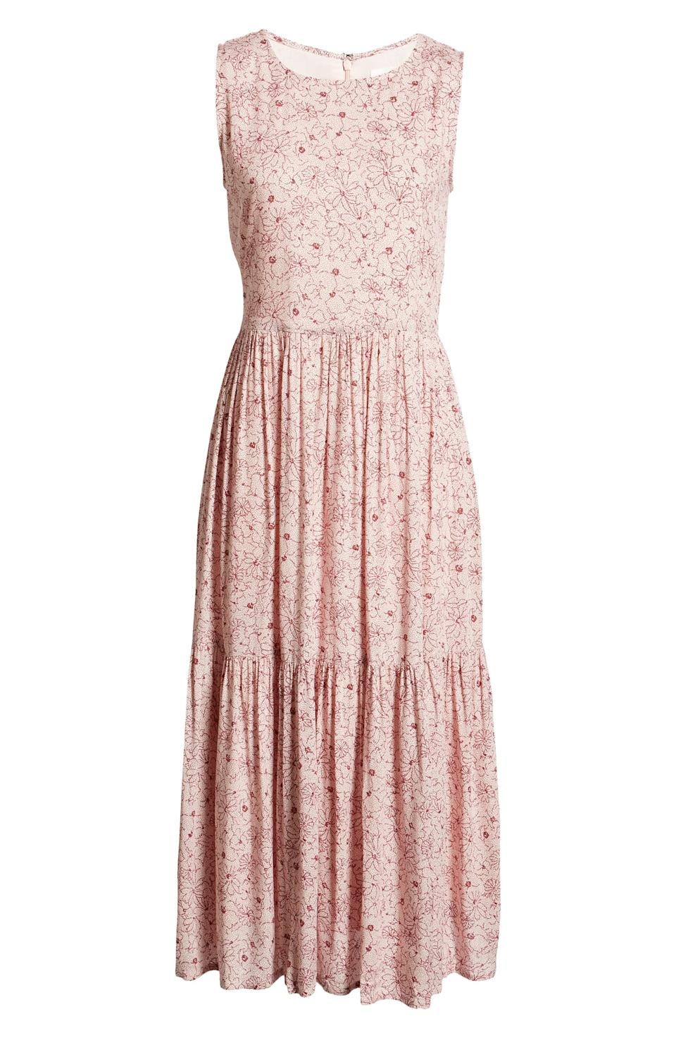 Treasure & Bond Floral Tiered Dress. Image via Nordstrom.
