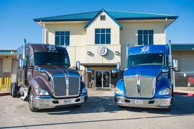 Boyd Bros. flatbed trucking fleet hauling steel and building materials based in Alabama.