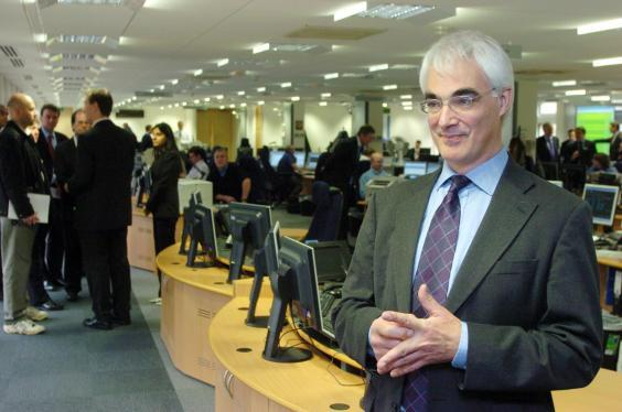 Alistair Darling in 2005 – he managed to hold the role of transport boss for four years (PA)