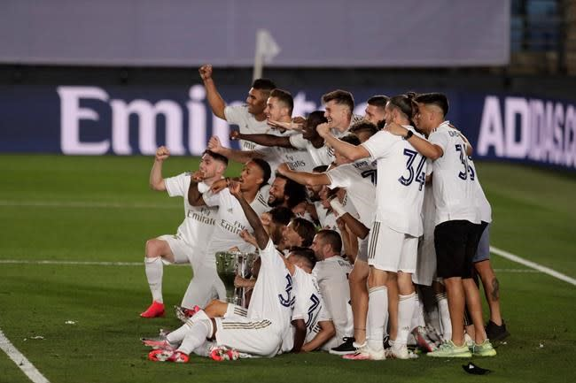 Real Madrid clinches Spanish league title with win