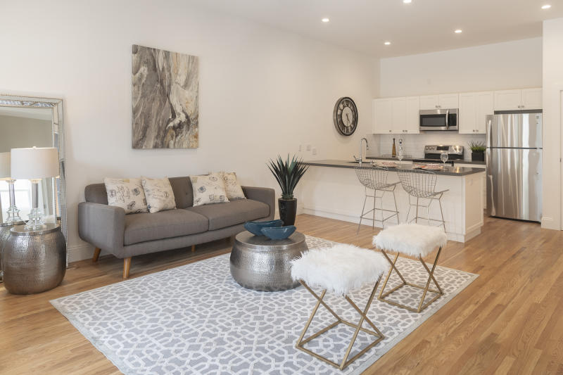 A converted two-bedroom unit at 201 Roanoke St. in San Francisco's Glen Park, rented out for $5,470. Source: Mark Hogan/Open Scope Studio