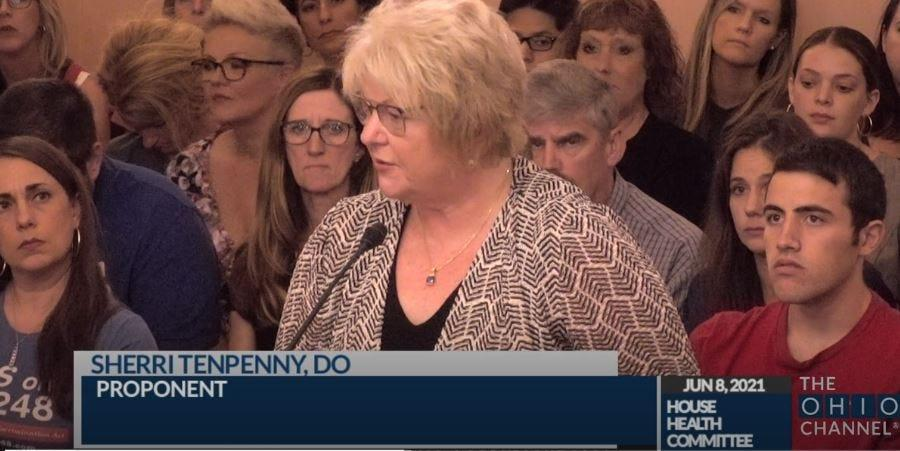 False testimony from Sherri Tenpenny, an osteopathic doctor from suburban Cleveland, before the Ohio Health Health Committee on June 8 has gone viral.