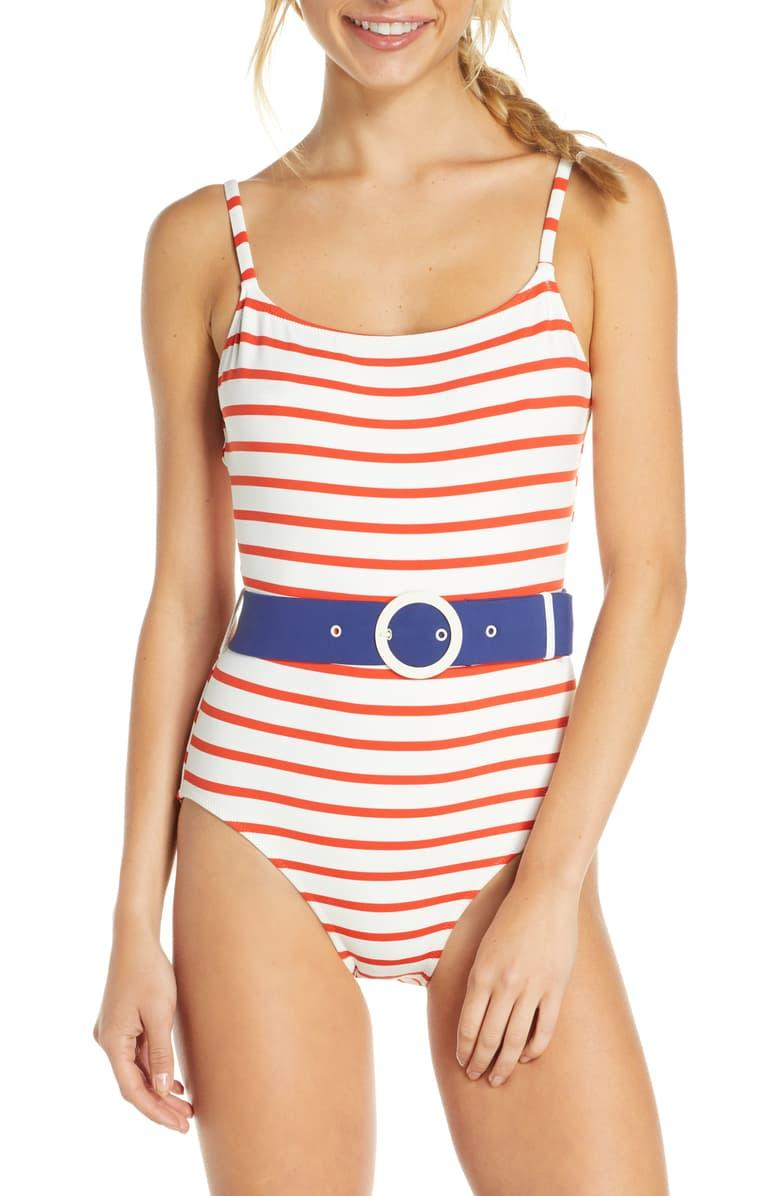 The Nina Belted One-Piece Swimsuit