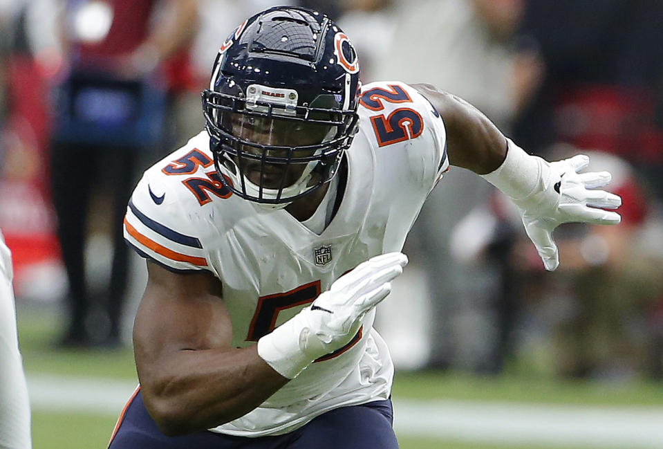 Khalil Mack is the Chicago Bears' latest defensive star. (AP)