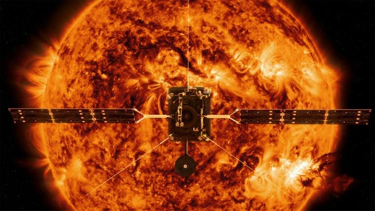This handout illustration image provided by NASA shows the Solar Orbiter, which, in collaboration with the European Space Agency, launched Sunday on a mission to study the Sun's polar regions and magnetic environment
