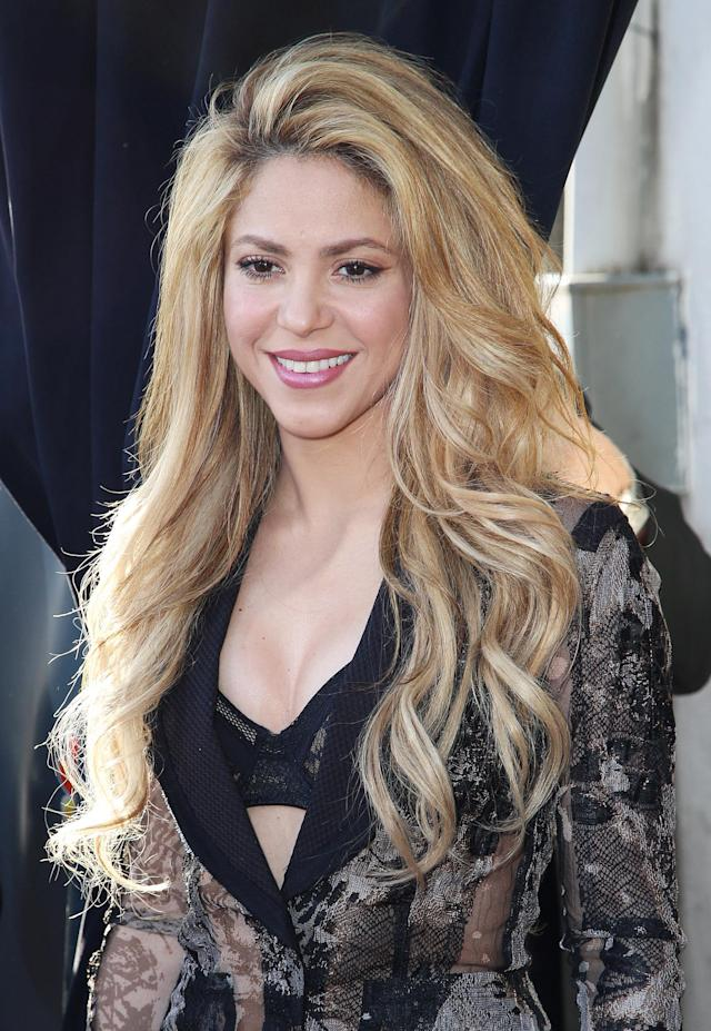 "Shakira attends ""The Voice"" Red Carpet Event at The Sayers Club on Thursday, April 3, 2014, in Los Angeles. (Photo by Annie I. Bang /Invision/AP)"