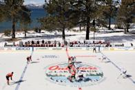<p>The Vegas Golden Knights and the Colorado Avalanche prepares to face-off to start the 'NHL Outdoors At Lake Tahoe' at the Edgewood Tahoe Resort on February 20, 2021 in Stateline, Nevada. (Photo by Christian Petersen/Getty Images)</p>