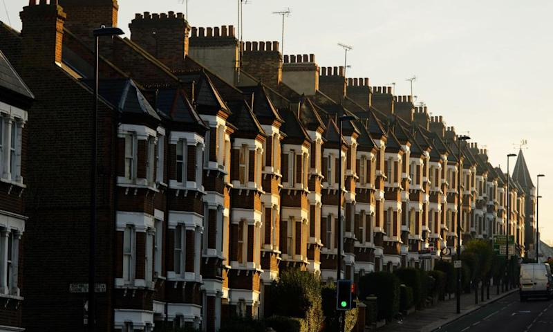 A row of terraced houses.