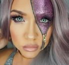 """<p>Yes, <a href=""""https://uk.style.yahoo.com/glitter-zip-halloween-beauty-trend-slideshow-wp-124612106/photo-p-knew-glitter-laden-zip-photo-124612740.html"""" data-ylk=""""slk:glitter zip make-up;outcm:mb_qualified_link;_E:mb_qualified_link;ct:story;"""" class=""""link rapid-noclick-resp yahoo-link"""">glitter zip make-up</a> was the trend we didn't see coming this year. With beauty junkies taking to Instagram to debut their creations ahead of Halloween, our social media feeds gave way to countless creations from sci-fi-themed looks to masterpieces fit for fancy dress. <em>[Photo: Instagram]</em> </p>"""