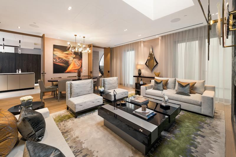 The first home's family room. Photo: Alex Lawrie/LC