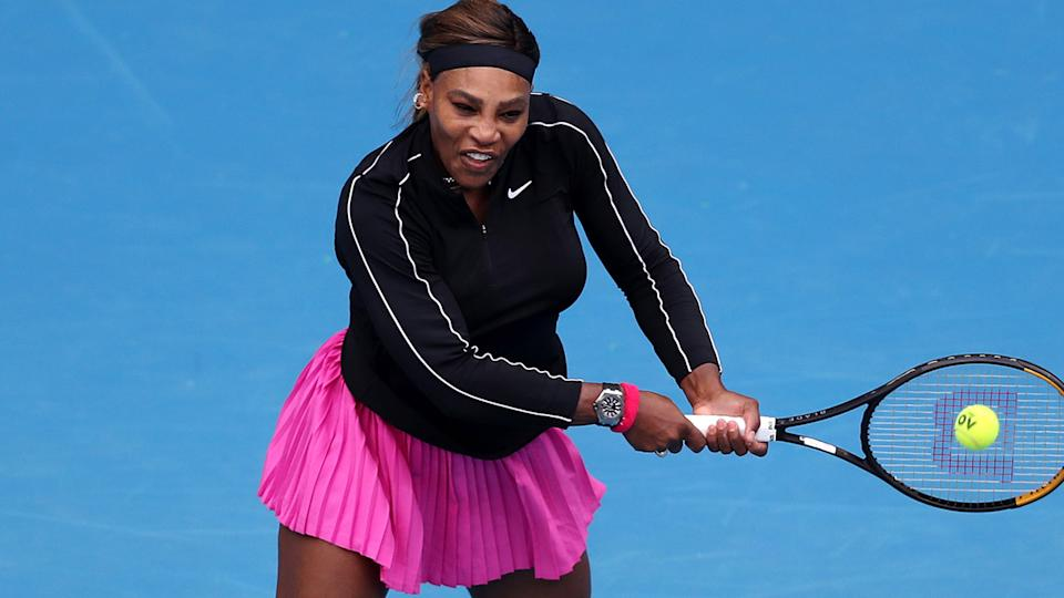 Serena Williams, pictured here in action against Daria Gavrilova at the Yarra Valley Classic.