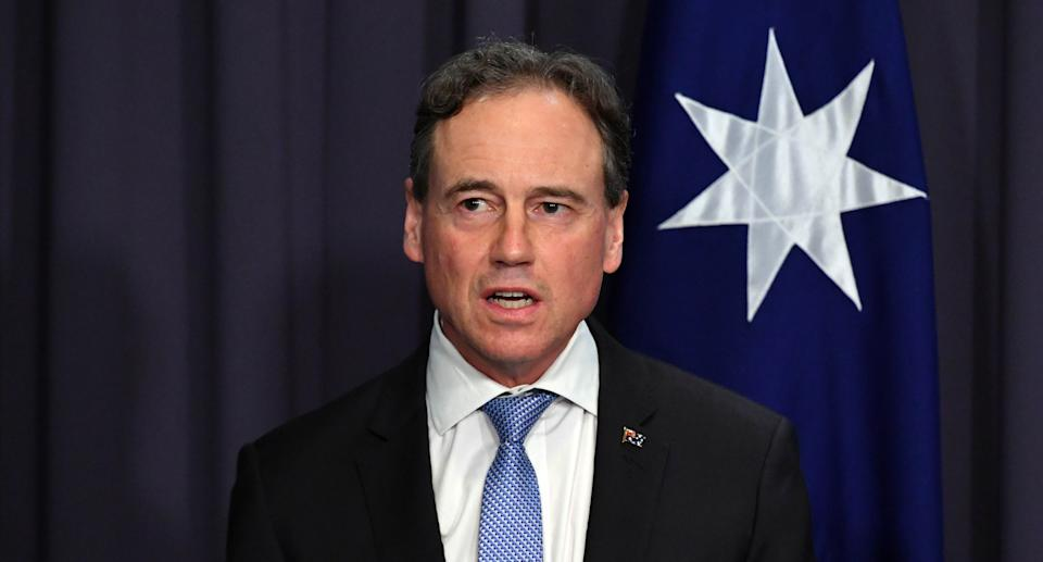 Minister for Health Greg Hunt at a press conference at Parliament House in Canberra, Thursday, September 2, 2021. Source: AAP