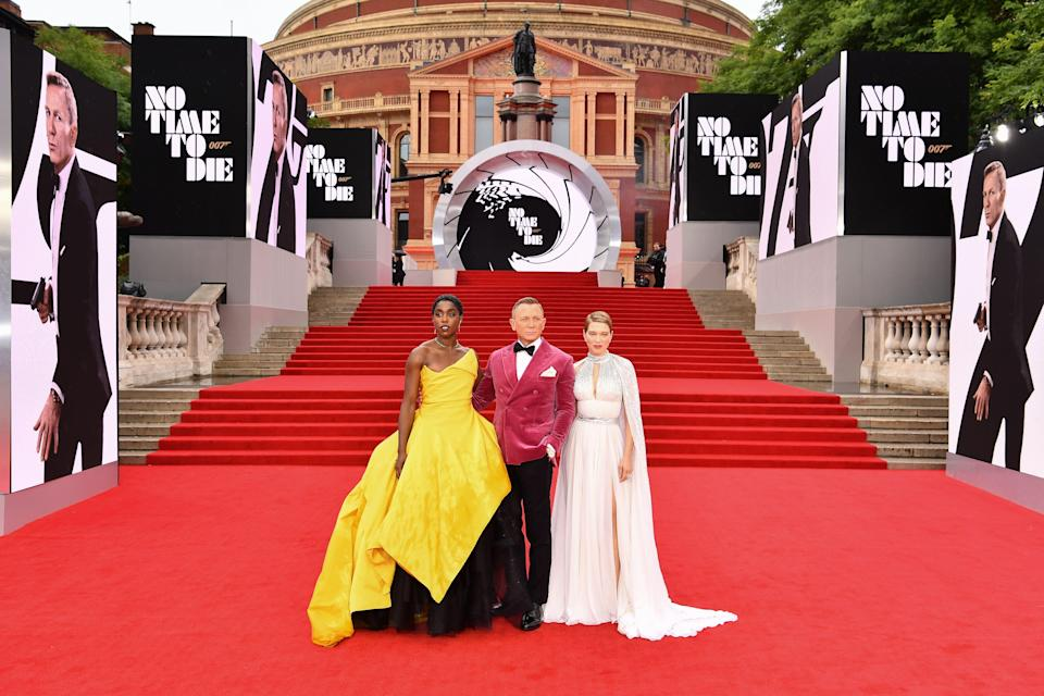 <p>After 18 months of delays and setbacks, the world premiere of No Time To Die finally took place in London tonight at the Royal Albert Hall. The film marks Daniel Craig's fifth and final outing as James Bond. </p><p>Craig was in attendance at the starry premiere, alongside co-stars including Lea Seydoux, Ana de Armas, Lashana Lynch and Naomie Harris. The event also attracted royal guests in the form of the Duke and Duchess of Cambridge, and famous fans including tennis champion Emma Raducanu. </p><p>Click through for our pick of the 10 best fashion moments of the night - from Daniel Craig's 007-worthy velvet jacket, to Lea Seydoux's custom Vuitton gown, Lashana Lynch's bold Vivienne Westwood design, and Phoebe Waller Bridge's excellent glittered Azzaro jumpsuit. </p>