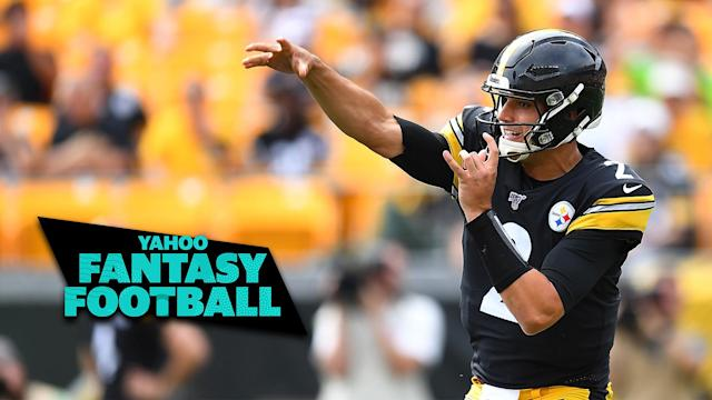 Pittsburgh Steelers QB Mason Rudolph leads a class of young passers making surprising starts in Week 3. (Photo by Joe Sargent/Getty Images)
