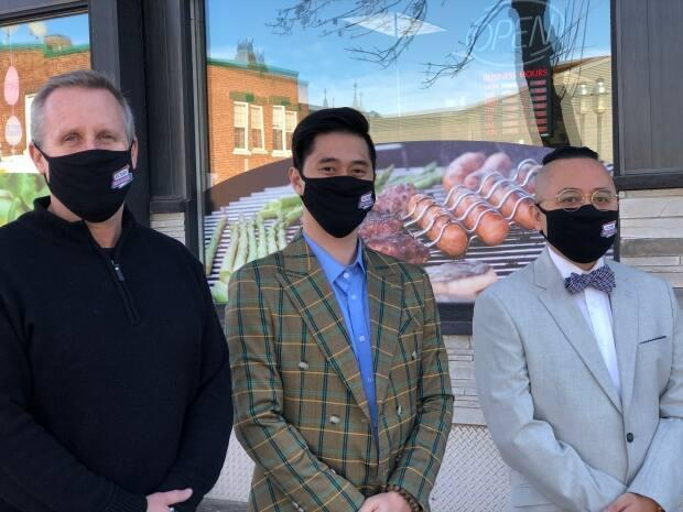 Alex Scholten is the new president and CEO of Victory Meat Markets, shown alongside his co-owners Hieu Pham, and Peter Yuan.