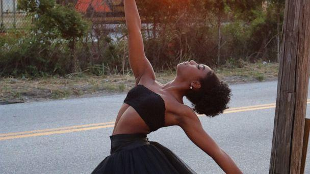 PHOTO: Kira Elon Robinson, a freshman and ballet major at the University of Oklahoma, is pushing for change after a TikTok video of her receiving brown pointe shoes went viral. (Karen Robinson)
