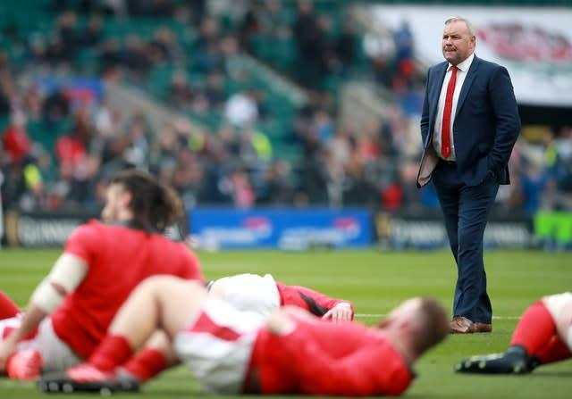 Wayne Pivac, right, lost three of his first four games in charge of Wales (Adam Davy/PA)
