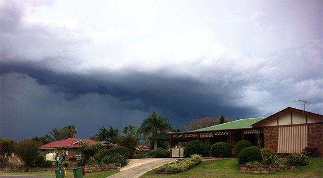 A reader contributed photo of today's storm in Ipswich. Photo: Lorraine Cravens-Griffiths