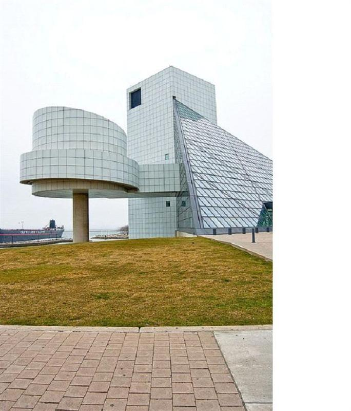<b>2. Rock and Roll Hall of Fame and Museum; Cleveland, Ohio</b> Even the architect was unhappy with this one. Upon the building's completion, a displeased I.M. Pei admitted himself there's little harmony in these conflicting shapes.
