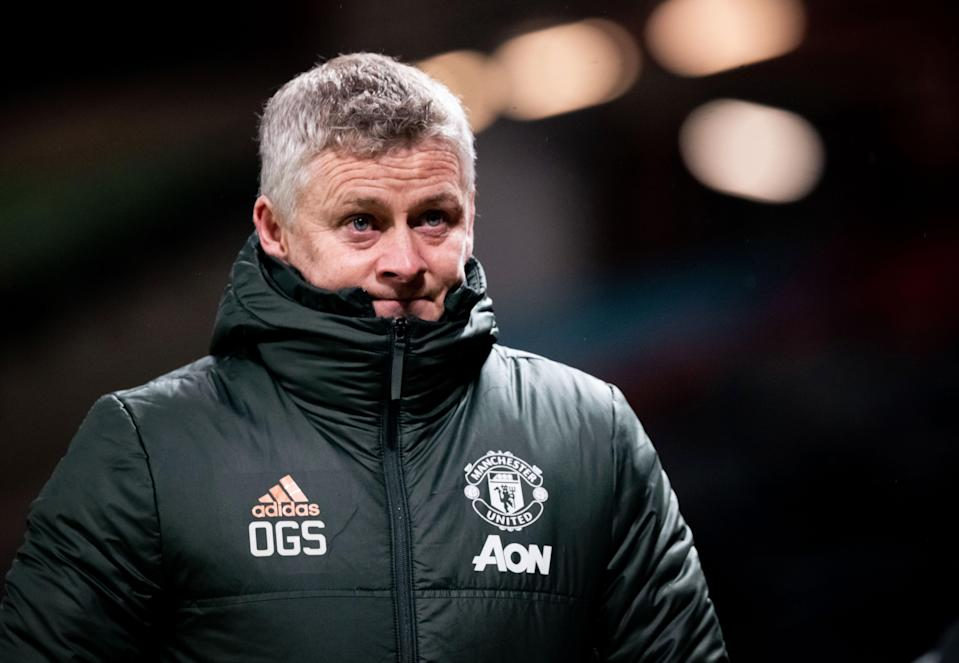 <p>Solskjaer is on course to guide United to back-to-back top three finishes</p> (Getty)