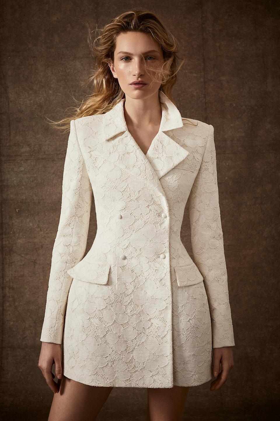 "<p class=""body-dropcap"">From rehearsal dinners to civil ceremonies, bridal suits have become a staple of the modern wedding wardrobe. They can be styled in sleek, romantic, sexy, and daring ways, making them an ideal option for events like the rehearsal dinner, after-party, brunch, and beyond. With smaller weddings taking the place of larger celebration in a mid-pandemic world, brides have been tapping suits of all styles to elevate the look of their intimate dinners and vow exchanges, saving their gowns for larger events next year, or anniversary affairs in the future. Some brides take an even more daring approach: donning suits with veils for a walk down the aisle, even in front of a larger guest count. Here, all the expertly-tailored, wedding-worthy suits you can shop now—from modern sets to sweet suiting. </p>"
