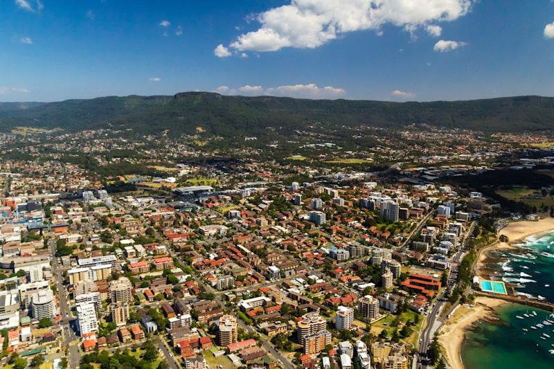 The Sydney suburb of Illawarra from above on a summer day. (Source: Getty)