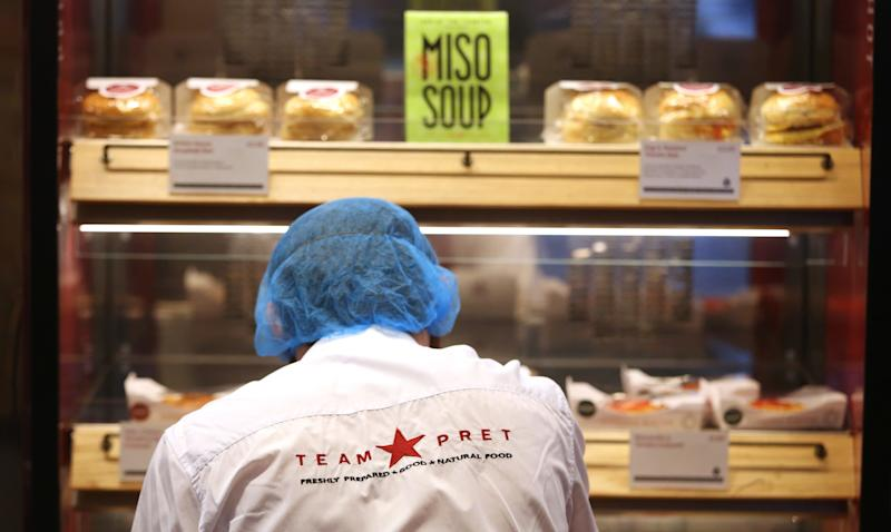 Sandwich chain Pret A Manger wants to hire 16 to 18-year-olds over the summer - © 2015 Bloomberg Finance LP.