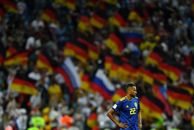 Soccer Football - World Cup - Group F - Germany vs Sweden - Fisht Stadium, Sochi, Russia - June 23, 2018 Sweden's Isaac Kiese Thelin looks dejected after the match REUTERS/Dylan Martinez TPX IMAGES OF THE DAY