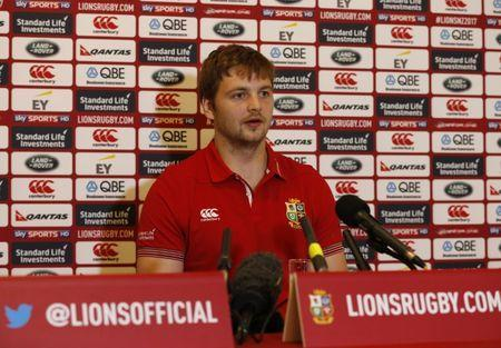 FILE PHOTO - Britain Rugby Union - British & Irish Lions Press Conference - WRU National Centre of Excellence, Vale of Glamorgan, Wales - 15/5/17 British & Irish Lions Iain Henderson during press conference Action Images via Reuters / Andrew Boyers Livepic