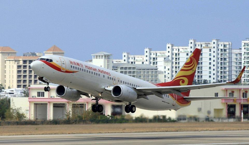 A Hainan Airlines plane takes off from the Sanya Phoenix International Airport in Sanya, Hainan province. Photo: Reuters