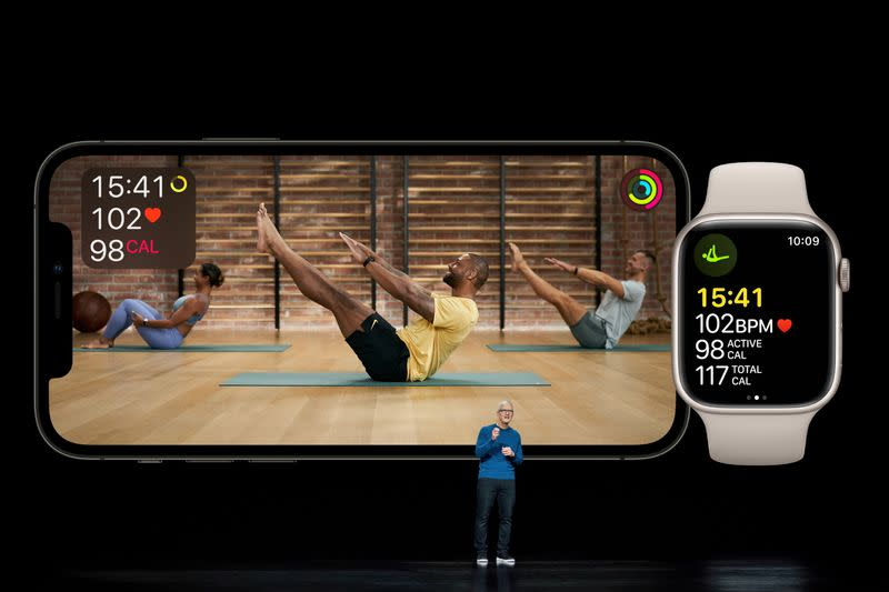 Apple CEO Tim Cook showcases the expansion of Apple Fitness+