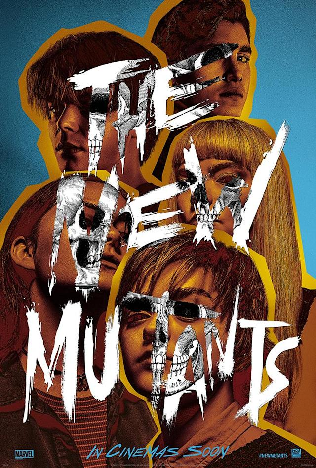 The UK poster for <i>The New Mutants</i>. (Twentieth Century Studios)
