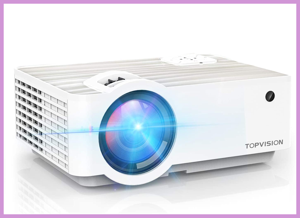 This TopVision Digital Projector is on sale for $72 with on-page coupon. (Photo: Amazon)