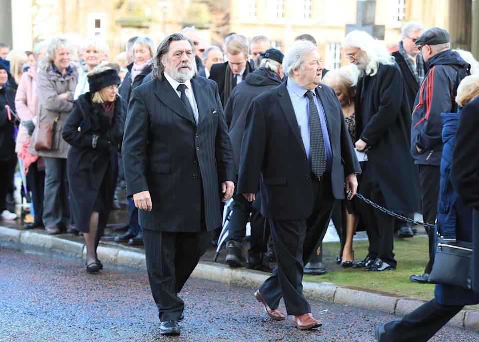 Stars from all over, including Liverpool, attended the funeral. (PA)