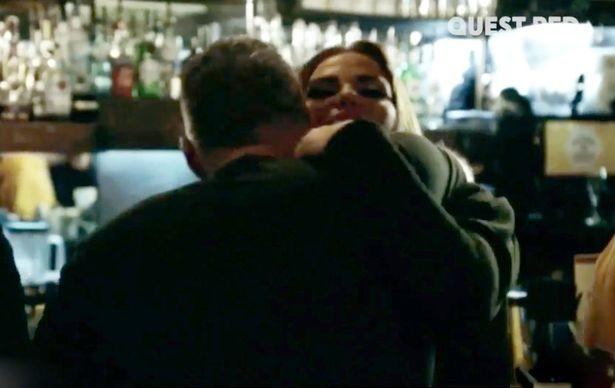 Katie Price and Dane Bowers embrace (Credit: Quest Red TV)