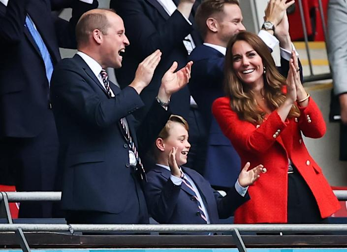 Prince George with parents Prince William and Kate Middleton at European Football Championship (dpa/picture alliance via Getty I)