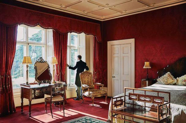 PHOTO: One of the gallery bedrooms at Highclere Castle. (Airbnb)