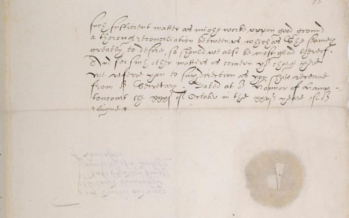 Olive branch: the letter Elizabeth wrote to Mary's gaoler - The American Trust for the British Library