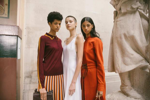Behind the scenes at Gabriela Hearst's Spring 2021 show.