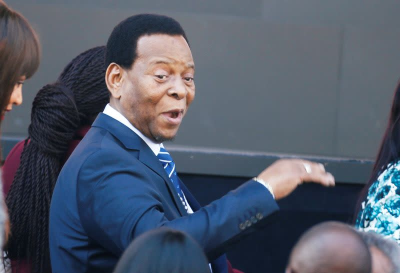 Zulu King Goodwill Zwelithini arrives to hear Former U.S. President Barack Obama delivering the 16th Nelson Mandela annual lecture in Johannesburg