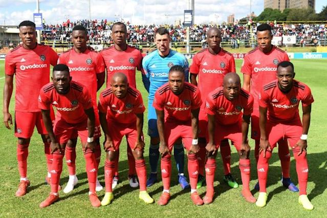 Former African champions Orlando Pirates are languishing in the bottom half of the South African Premiership after just two wins in eight matches (AFP Photo/STRINGER)