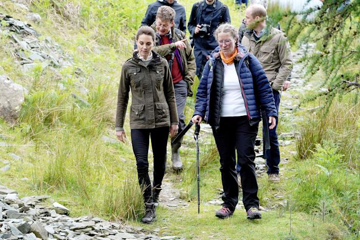 William and Kate at Deepdale Hall Farm, a traditional fell sheep farm on June 11 in Patterdale, England.
