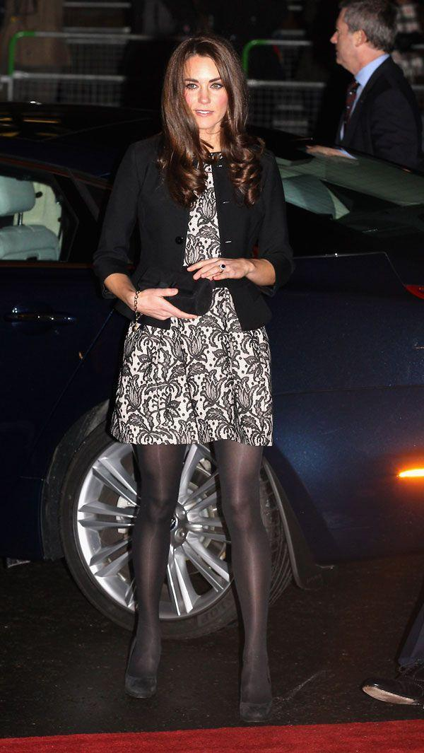 <p>High street in a pretty Zara dress and Ralph Lauren jacket at a charity concert at Royal Albert Hall in London</p>