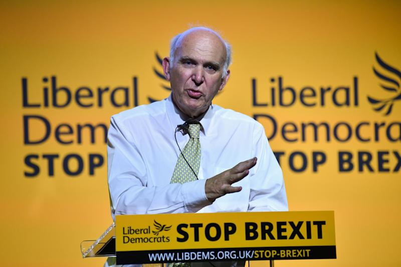 Vince Cable speaks to activists and MPs as the party relishes its renewed sense of purpose.