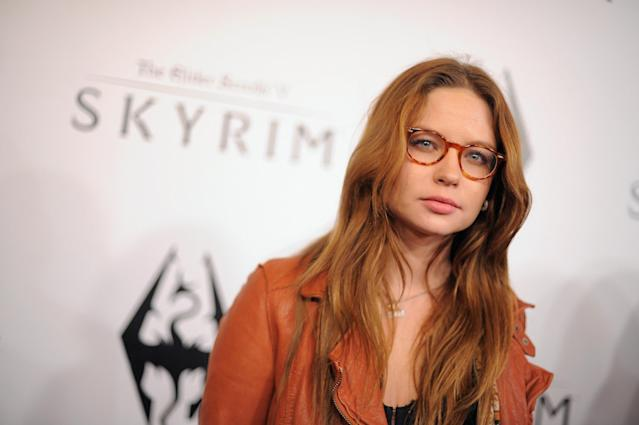 Daveigh Chase at the official launch party for The Elder Scrolls V: Skyrim, at the Belasco Theatre on November 8, 2011 in Los Angeles, California. (Photo: Jordan Strauss/Getty Images for Bethesda)