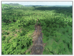 Figure 3 – Progress of Namdini Clearing for the Pioneer Access Road