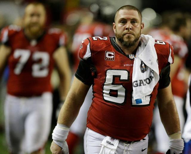 Former Atlanta Falcon and LSU center Todd McClure is assisting residents affected by the flooding in Baton Rouge. (AP)